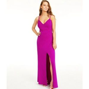 Macy's Size Small Fushia Prom Dress w Slit
